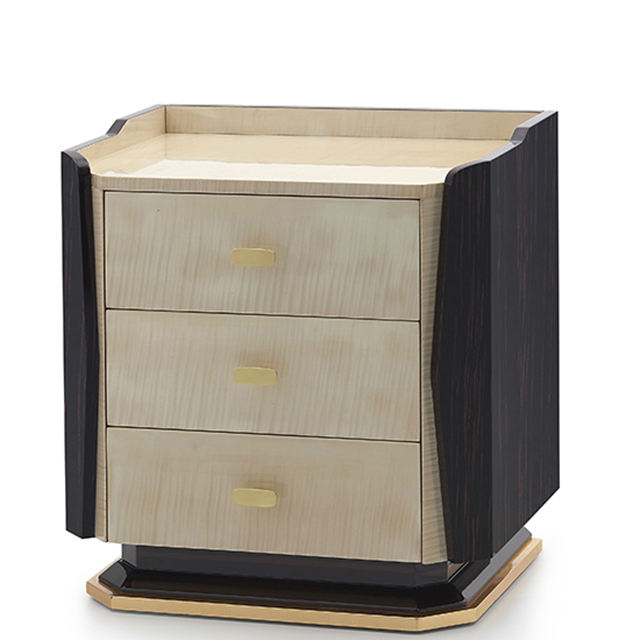 Living room furniture luxury living room Three drawer night stands