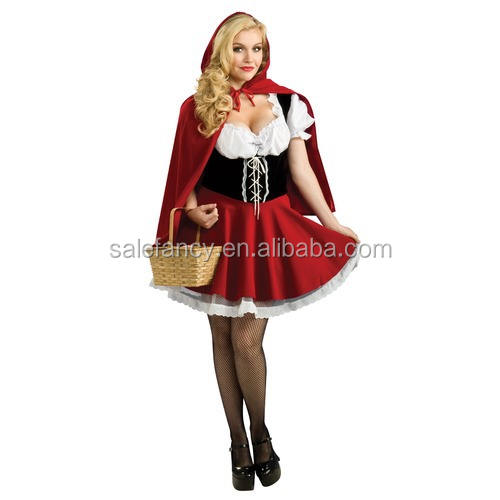 Little Red Riding Hood Ladies Trang Phục Fancy Dress Gà Đảng Halloween Trang Phục QAWC-3298