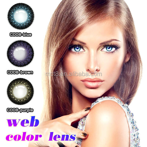 Grey/Brown/Sky/Green/Aqua/Hazel/Violet/Turquoise/Black...etc Lenses Color and 0.06~0.07mm Center Thickness Color Contact Lens