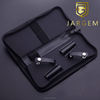 Hair salon barber bags zipper hair scissors case leather hair tool case