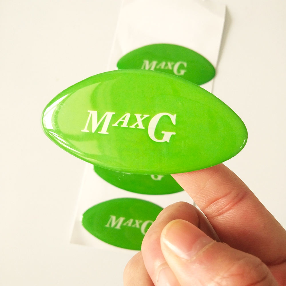 Low MOQ Waterproof Logo Printed Dome Label Crystal 3D Custom Epoxy Resin Domed Sticker