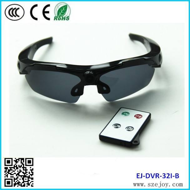 2014 sıcak satış yeni tasarlanmış ej-32i <span class=keywords><strong>1280x720p</strong></span>@30fps 5.0MP CMOS polarize güneş gözlüğü kamera