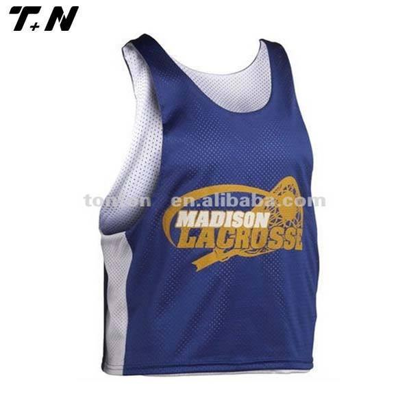 Equipe OEM malha reversível jersey <span class=keywords><strong>lacrosse</strong></span> pinnies personalizada