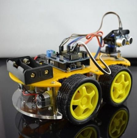 NIEUWE Mini DIY Robot Auto Kit 4WD Smart Auto Leren Starter Set multifunctionele Bluetooth Auto Educatief Speelgoed