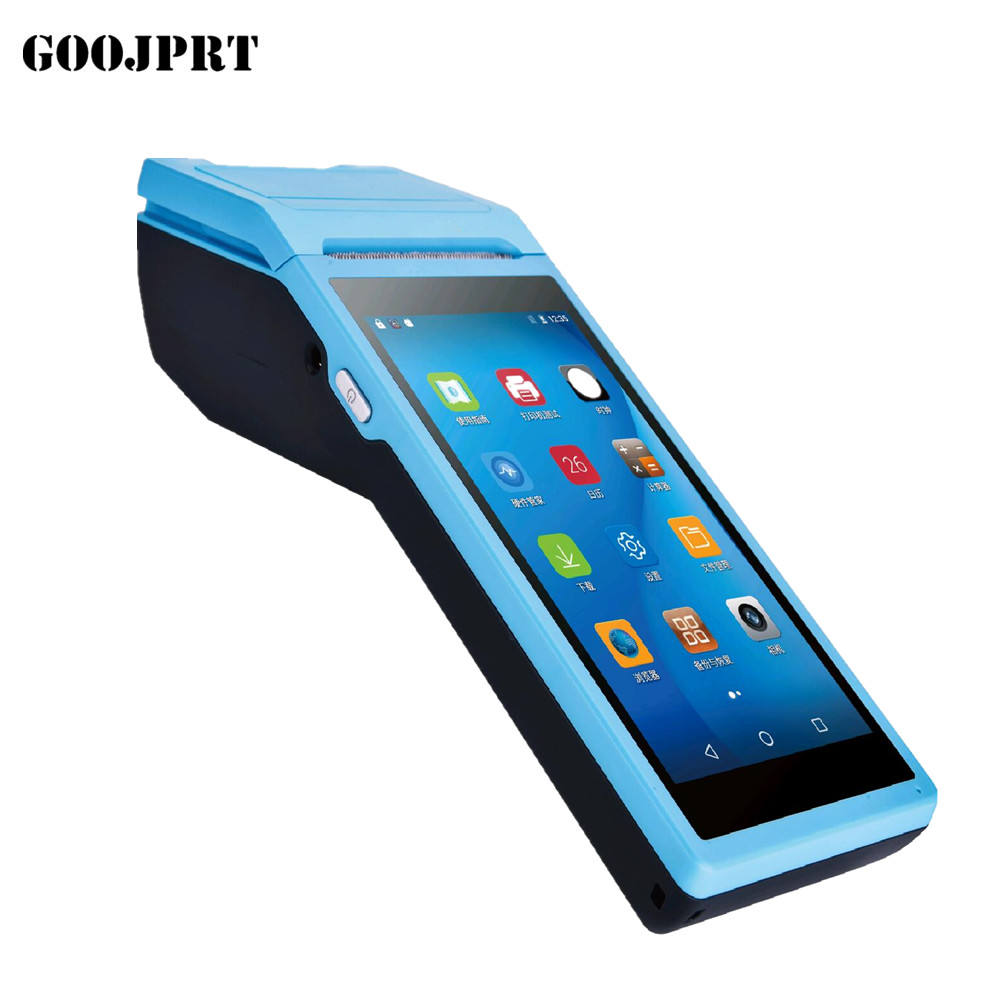 GOOJPRT Android 8.1 POS Terminal PDA With Wireless BT& Wifi Android System with Thermal Printer Built-in and Barcode Scanner