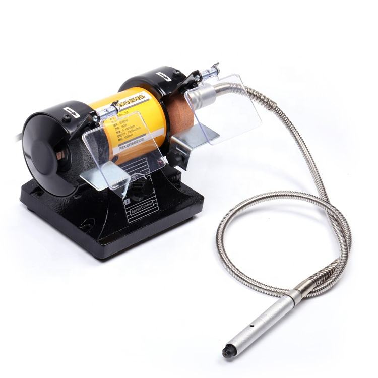 high quality electric portable variable speed jewelers bench grinder machine with low price