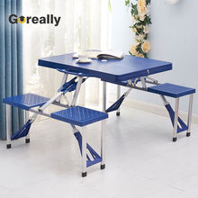 Custom-made adjustable height legs portable beach folding fold up table