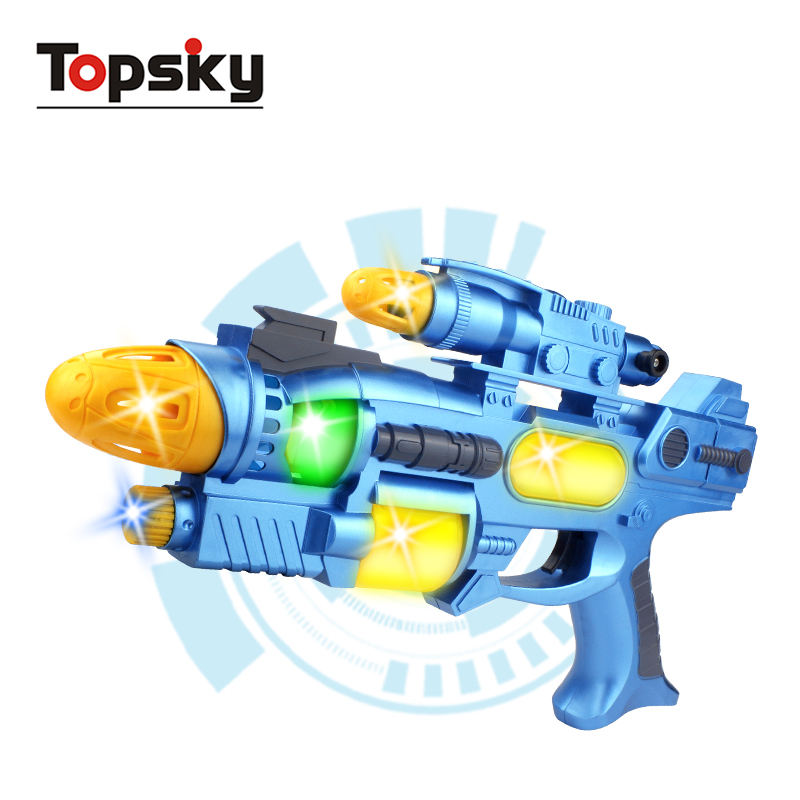 Electric space toy gun light and sound laser toy guns metal weapon set