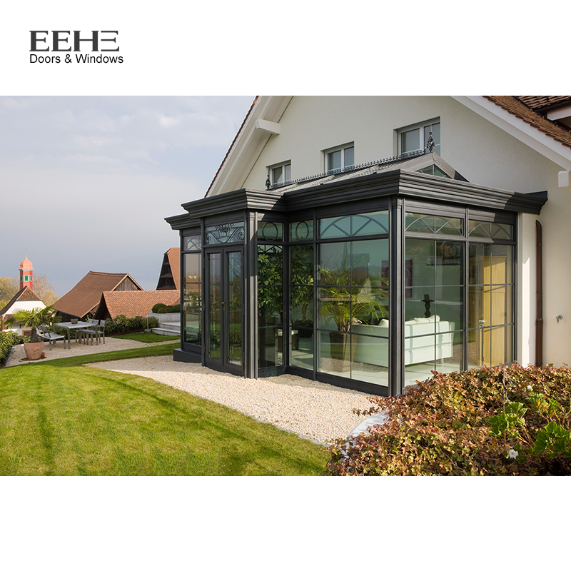 Outdoor Aluminum Frame Glass Sunrooms For Sale