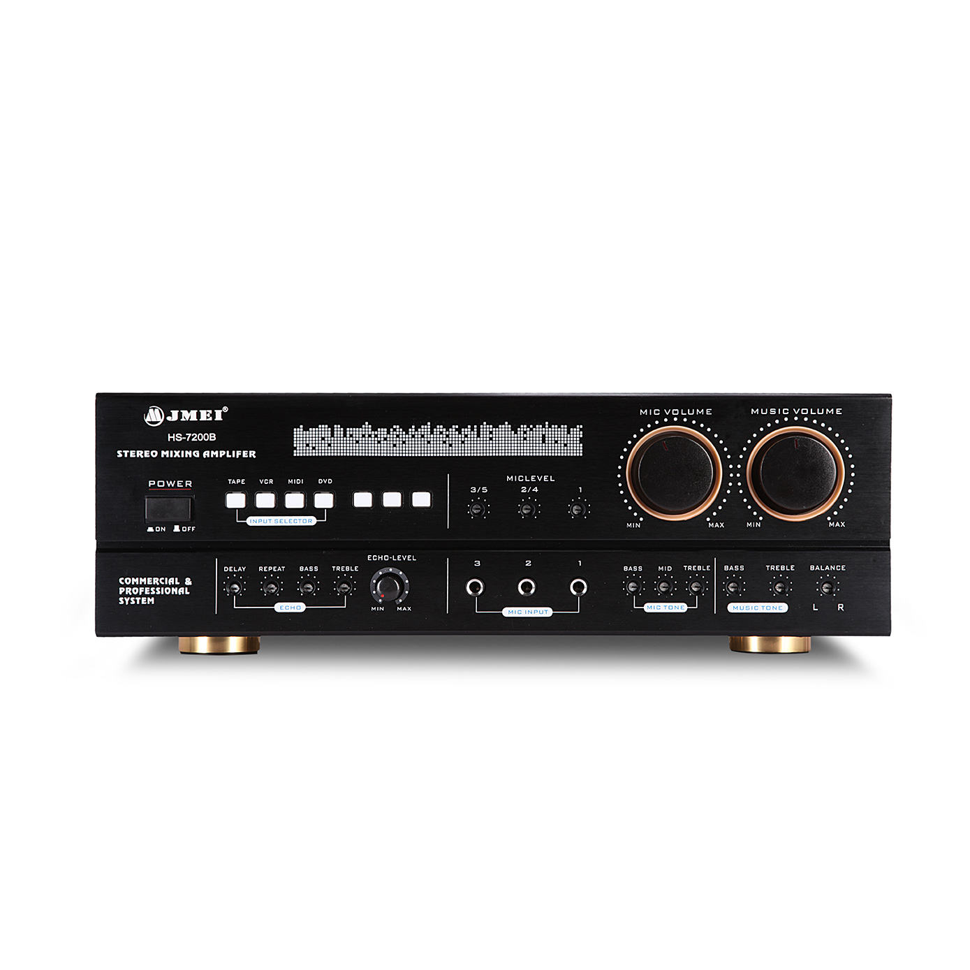 power 2sb688 2sd718 b688 d718 echo mixer for mosque sound system 5.1 amplifier remote kit