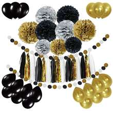 Paper Sets Pompom Ball Paper Tassel Ballon for Party Decoration