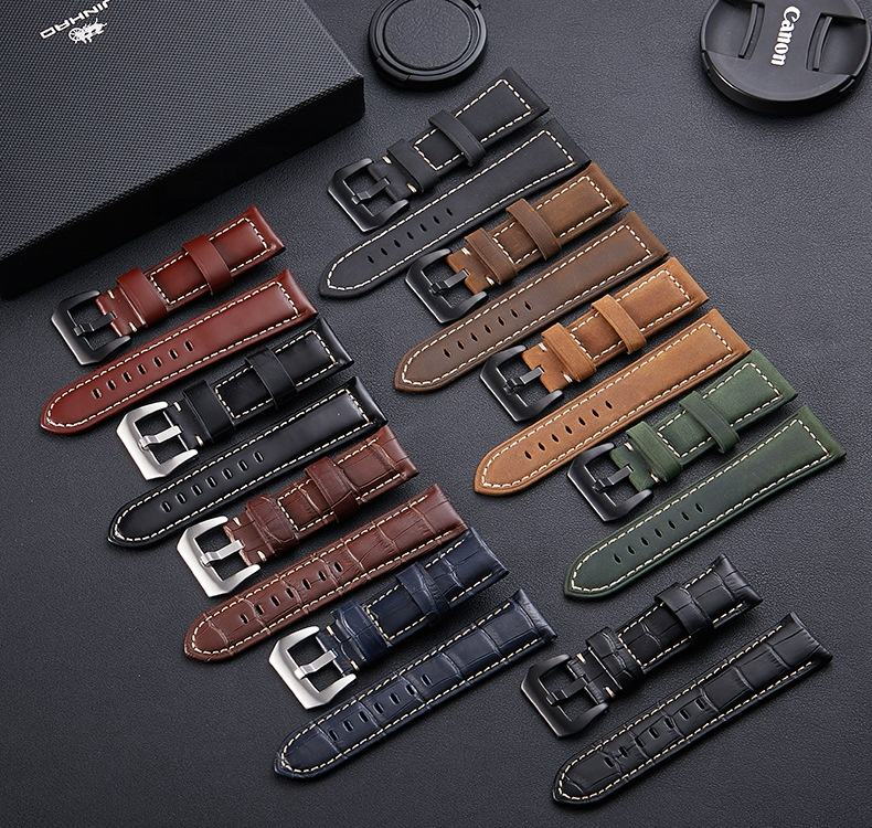 ZONESIN 제 Leather Watch Strap, 패션 Genuine Leather Watch Band