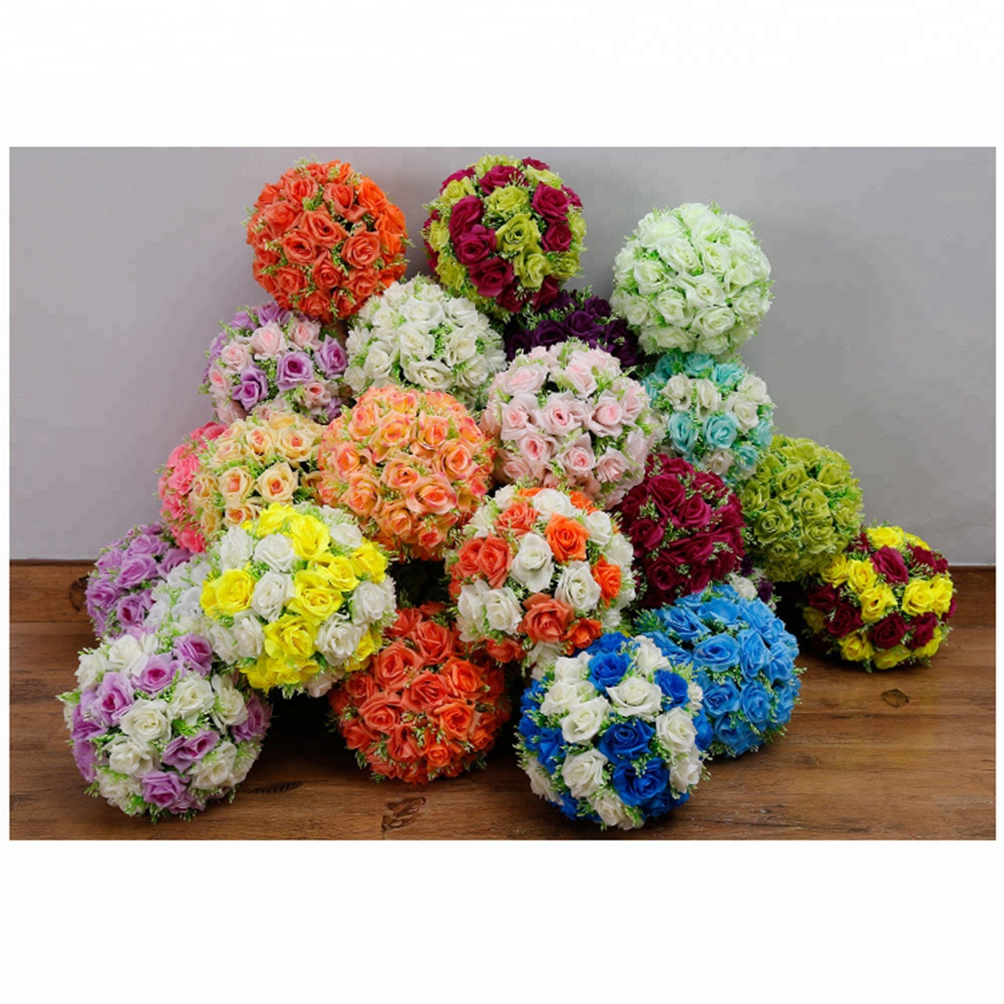 wedding plastic artificial hydrangea flower for road lead centerpiece