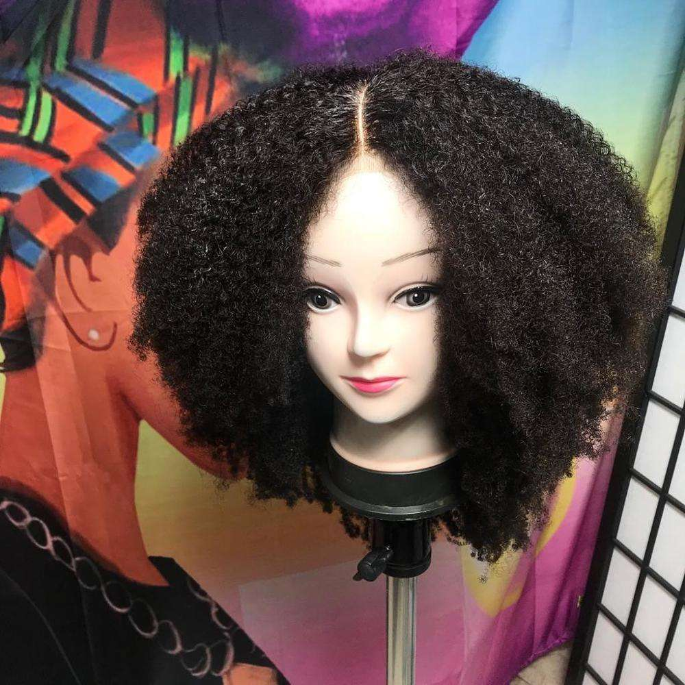 Afro Kinky 4C Texture 100% Human Remy Hair 250 Density Cheap Lace Wig