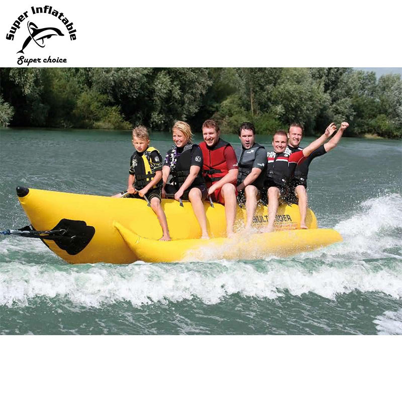 Jetski סירה מתנפח מים Towable <span class=keywords><strong>בננה</strong></span> סירת מזחלת עבור 6 אדם