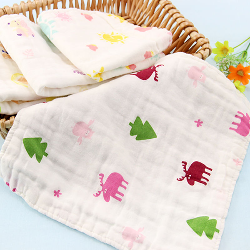 OEM/ODM 100% Cotton super soft cotton fabric baby personalized square face towel gift baby products