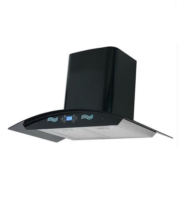 tempered glass and stainless steel chimney cover range hood MRC-U8