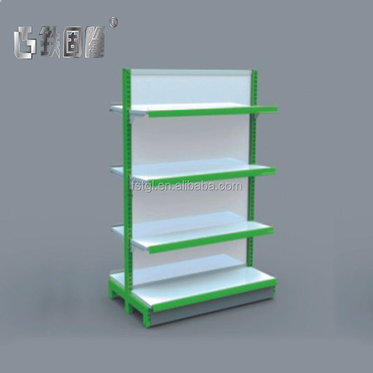 Retail shop convenience store used pegboard stand shelves shelving rack