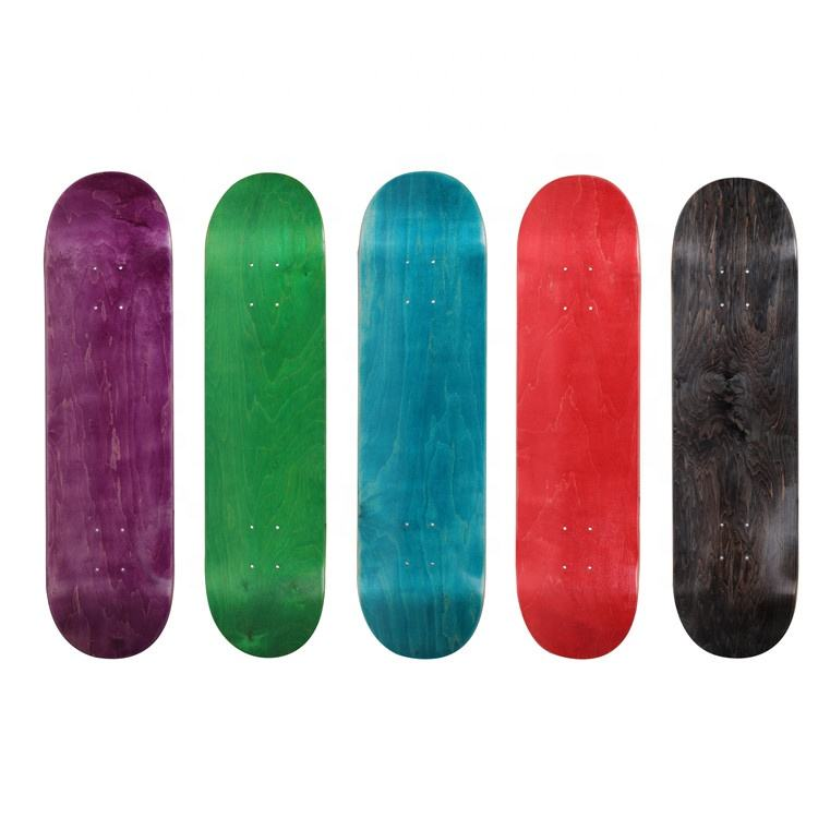 Best Sale Blank Skate Board Decks Wholesale 7 Ply Russian Maple Blank Skateboard Decks