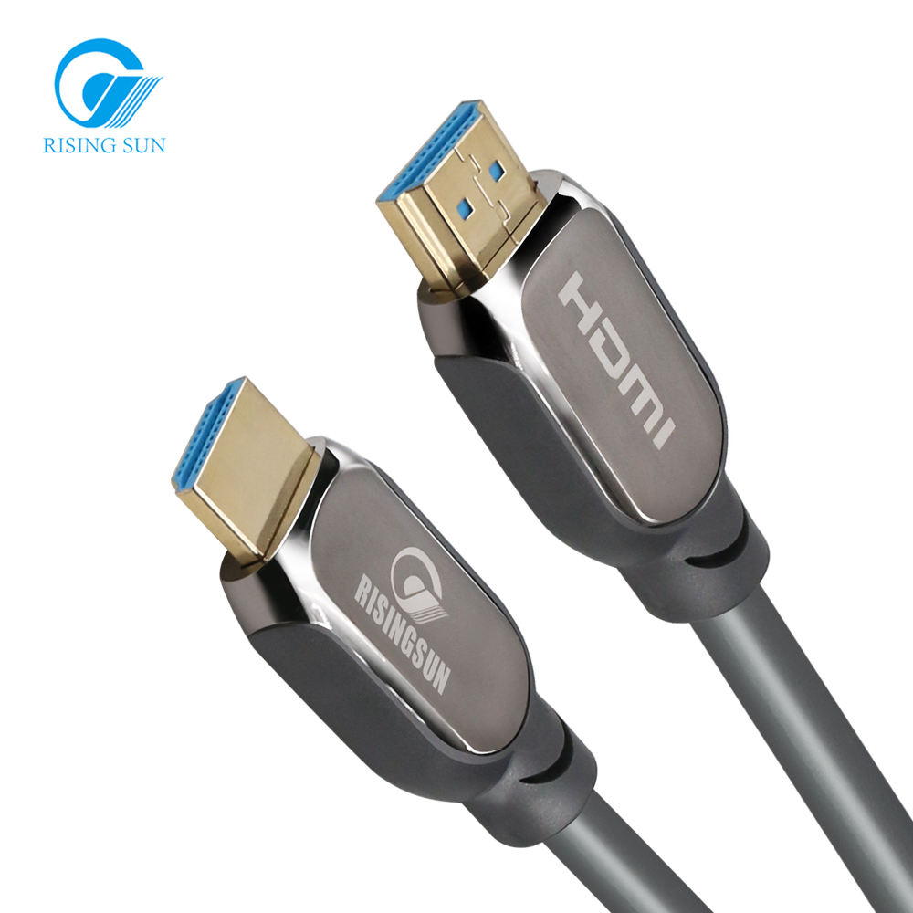 RISING SUN OEM Gold Plated HDMI 2.0V Cable with Booster for Mobile 18G 3D 4K 60Hz