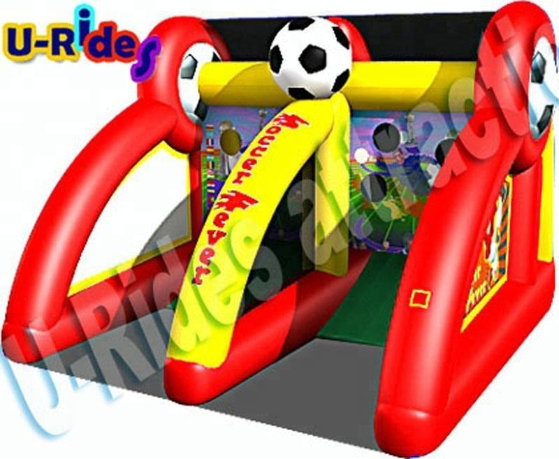 Wholesale Price two gates shooting competition Inflatable Football Game for playground