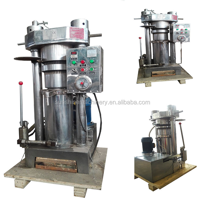 Hydraulic squeezing press expeller making virgin coconut oil extracting machine