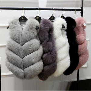2020 Best selling wholesale faux fur fashion ladies faux fox fur vest