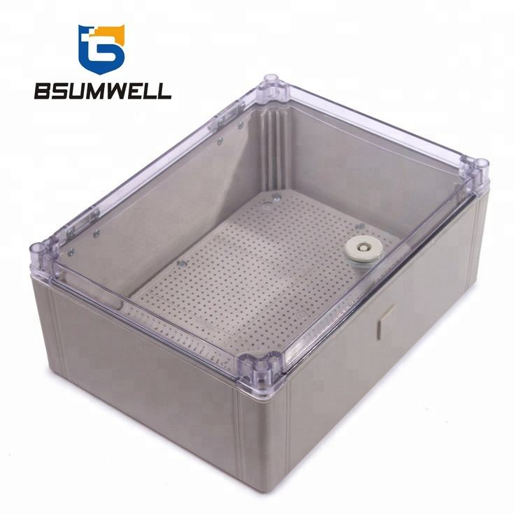 IP65 outdoor 400*300*160 ABS plastic waterdichte decoratieve junction box met Deksel cover en key