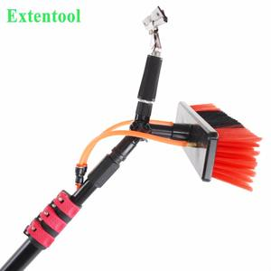 Extentool 12FT water fed pole kit brush window cleaning system telescopic pole
