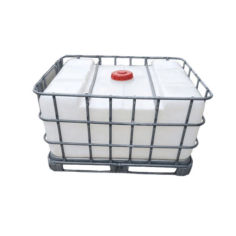 500L Rectanuglar IBC סוג Rotomolding פולי עגלת מים tote טנק עם כלוב פלדה