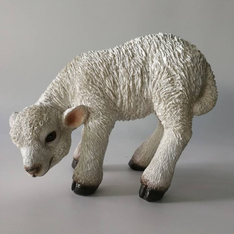 best selling polyresin sheep decoration garden decoration