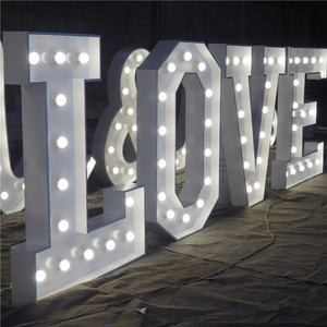 Factory supplier waterproof Illuminated Sign 4ft giant love letters marquee Led light up letters