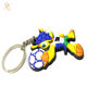 Chinese market custom shaped rubber key rings goods import from China