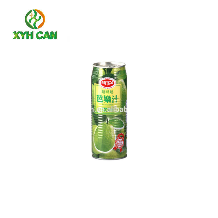 Energy health beverage tin can with lid partial openning