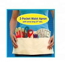 2 Pocket Canvas Waist Apron for gardening, Kid's Crafts and Teachers in the Classroom