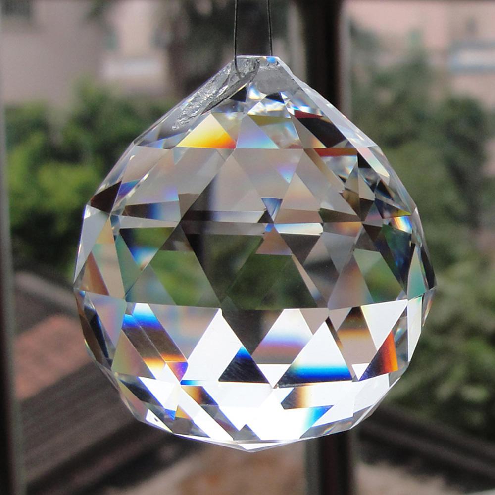 Trasparente sfera <span class=keywords><strong>di</strong></span> <span class=keywords><strong>cristallo</strong></span> prism per appendere <span class=keywords><strong>lampada</strong></span> lampadario accessori