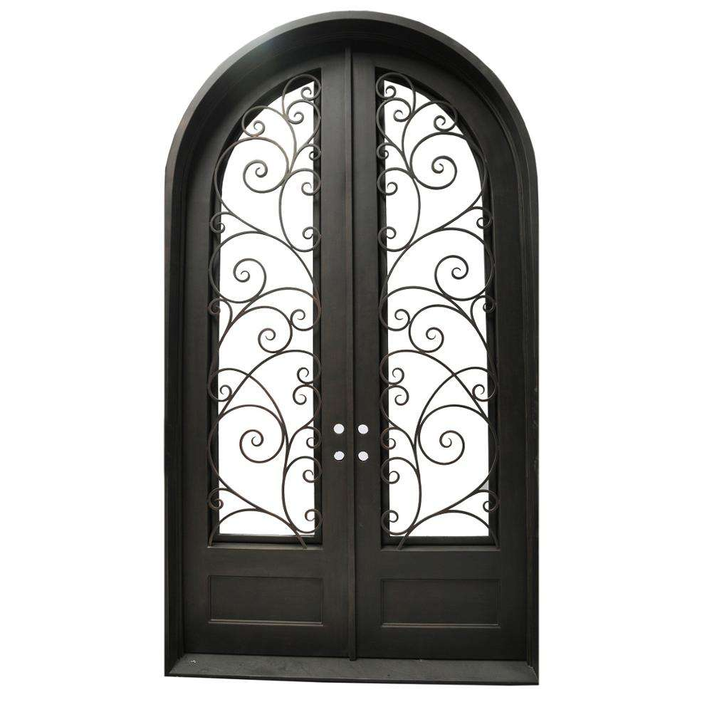 Round Top Iron Grill Window Door Designs Iron Door