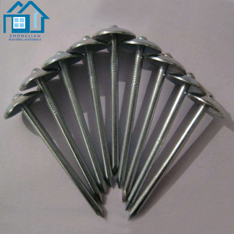 China corrugated hardware fastener umbrella head roofing nail with rubber washer