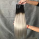 tape in human hair extensions Double Drawn Ombre 1b/silver C human hair invisible tape hair