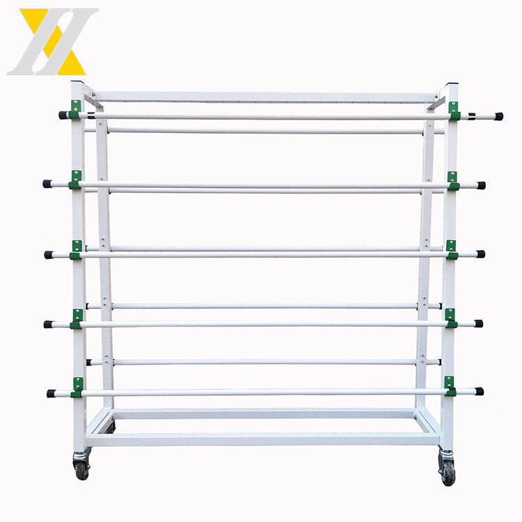 metalen tapijt display stand/display rack voor tapijt/stof display rack