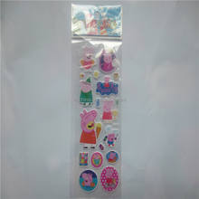 Pink pig sticker manufacturer three-dimensional stereo 3 d cartoon bubble stickers fancy reward sticker bubbles