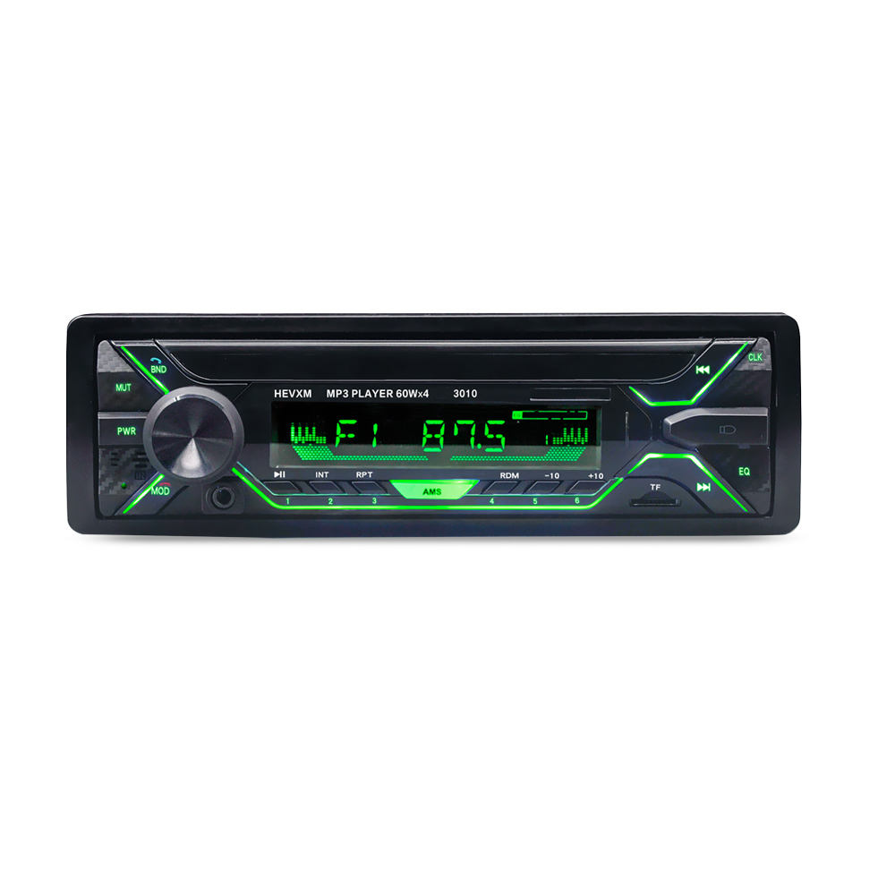 12V multi function Colored light car MP3 music player 3010