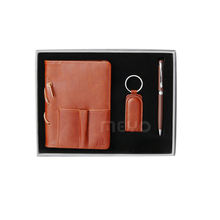 Leather Diary and Pen and key holder set Office gifts Premium Gift Set
