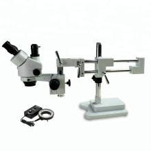 Double Boom Stand 7X-45X Zoom Mobile Phone Microscope Stereoscopic