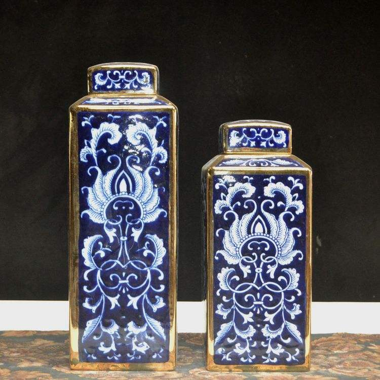Hand painted porcelain chinese blue and white ceramic porcelain antique ginger jars
