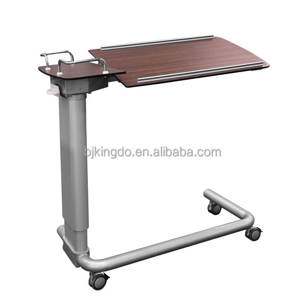 Hospital Overbed Dining Table With Tilting Table-top