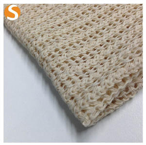 Shaoxing supplier new design hole 100 Cotton Hacci Knitted Fabric for Loose Garment