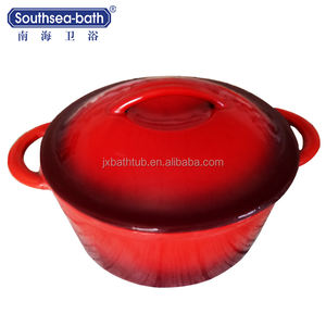 Enamel Coating Cast Iron pot Sets/Cast Iron Parini Cookware