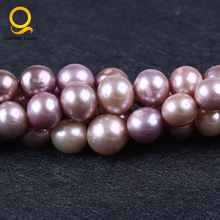 12-16mm Purple color edison natural freshwater pearl strand,16 inches
