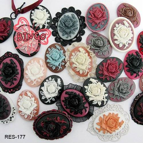 Rose Cameo Cabochons